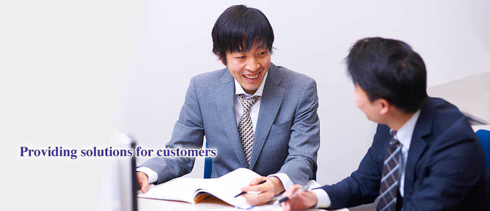 Providing solutions for customers